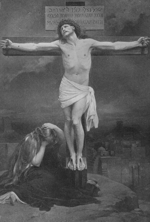 crucifixion-bw