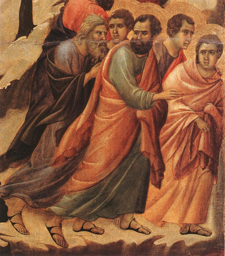 Disciples fleeing Christ