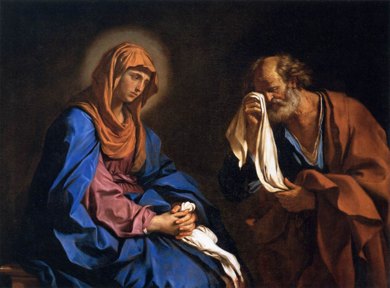 Guercino_-_St_Peter_Weeping_before_the_Virgin_-_WGA10949