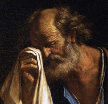 St. Peter before the Virgin Guercino