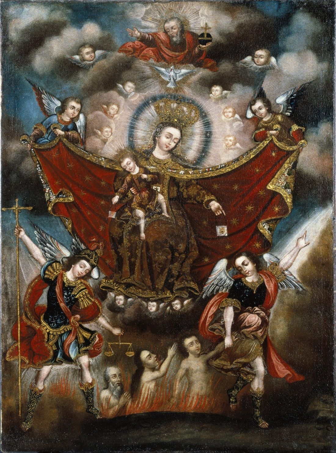 Our-Lady-of-Carmel-Saving-Souls-From-Purgatory