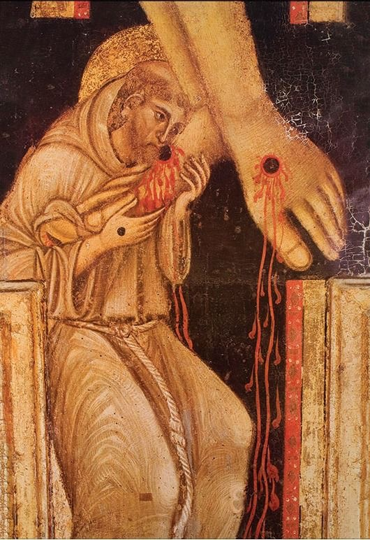 Saint Francis kissing the Right Foot of Christ